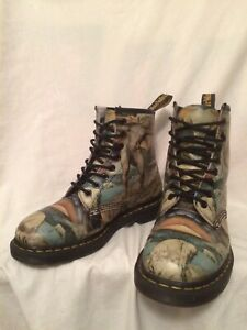 RARE DR MARTENS WILLIAM BLAKE TATE MUSEUM 1460 8 EYE LACE UP BOOTS UK 7 EU 41