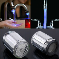 Bathroom LED Temperature Control 3 Color Light Water Shower Spraying Head Faucet
