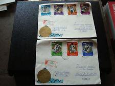 HONGRIE  - 2 enveloppes 1973 (cy74) hungary