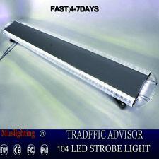 """55"""" 104 LED EMERGENCY LIGHT BAR WARNING FLASH STROBE LIGHTS White  12/36V"""