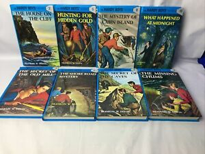 Hardy Boys 8 BOOK LOT Franklin W. Dixon Books #s:2-10 Vintage 80's-90's Hardback