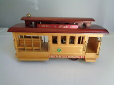 Vintage Wooden Trolley cable car wind up Music Box Powell Hyde San Francisco