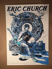 Eric Church 2017 Poster Variant Cold One Blue Miles Tsang Air Canada Centre