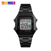 SKMEI Men's Watch Fashion Digital LED Sports Wristwatch Stainless Steel 1377 35