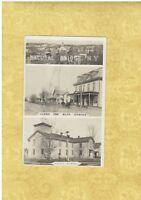 NY Natural Bridge 1908-19 RPPC real photo postcard MAIN ST & IOOF TEMPLE