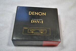 NEW IN BOX BLACK OLD SCHOOL DENON BLACK DSV-1 VOLUME LEVEL METER FROM JAPAN