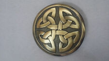 """Celtic Kilt Fly Plaid Brooch Antique Finish 2.5""""/Celtic Fly Plaid Brooches/Metal"""