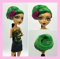 Monster High Jinafire Long Doll Green Hair Styled for OOAK
