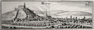 Vaihingen, Baden-Württemberg, Kupferstich um 1655 von M. Merian