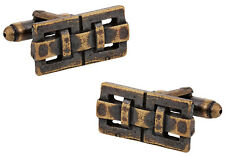 Architectural Design in Oxidized Bronze Direct from Cuff-Daddy