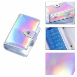 Nail Art Stamping Template Storage Card Bag Laser Iridescent Pouch Plates Tools