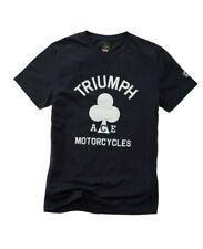 Triumph Motorcycles Finchley Tee Mens Black Ace Cafe T-Shirt NEW MTSA19600