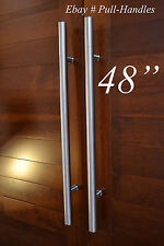 """48"""" Store front Pull Door Handles hardware Stainless Steel Entry Glass Shower"""