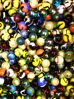 "Set of 24, 5/8"" Glass Player Marbles, Bulk Assorted Mega Lot"