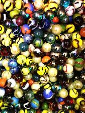 "Set of 25, 5/8"" Glass Player Marbles, Bulk Assorted Mega Lot"