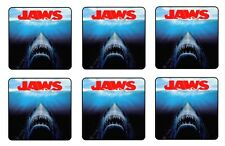 "JAWS COASTERS 1/4"" BAR & BEER SET OF 6"