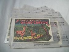 Vintage GRAND CANYON of PENNSYLVANIA TRAVEL SOUVENIR WATER DECAL MIP UNUSED