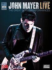 John Mayer Live Sheet Music The Great Guitar Performances Play It Like 002501513