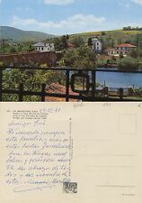 Tarjeta Postal. La Magdalena. (León). Puente y Vista Parcial de Canales.
