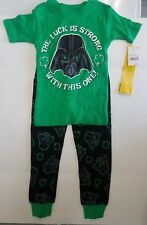 Boys Star Wars Darth Vader Pajama Set - Green - Size 4 - NEW