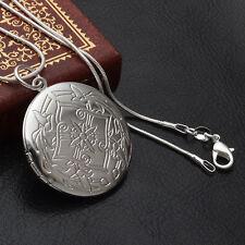 925 SILBER PL.  XXL Medaillon Medallion Anhänger Amulett Talisman Aufklappbar