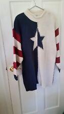 Katy D. Stars Stripes Patriotic Flag Cotton Sweater Size 18-20
