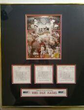 Boston Red Sox 2004 WEEI Radio Sponsor custom matted & framed championship gift