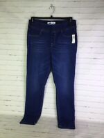 Old Navy Mid Rise 24/7 Sculpt Rockstar Jeggings Pull On Blue Womens Size 12 NEW