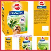 Pedigree Dentastix Fresh Daily Adult Large Dog Dental Treats 28 Sticks 1.08kg