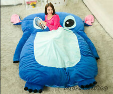 Single Bed Filled Lilo & Stitch Carpet Tatami Mattress Sofa Large Bean Bag Gifts