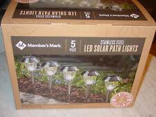 MEMBER'S MARK LED SOLAR PATH LIGHTS Stainless Steel 12 Lumens (5 Pack)