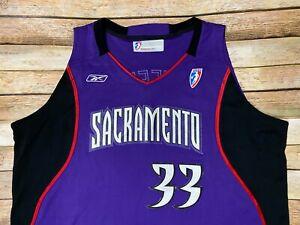 RARE SACRAMENTO MONARCHS Jersey Yolanda Griffith Vtg 2003 WNBA Reebok TEAM ISSUE
