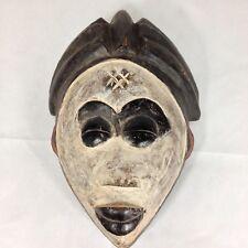 Pintado De Madera Tallada bamileke Máscara de Camerún arte tribal africano 33 Cm De Alto
