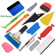 Combo Car Wrap Vinyl Tools Kit 3D Carbon Fiber Felts Micro Squeegee TUCK Wrap US