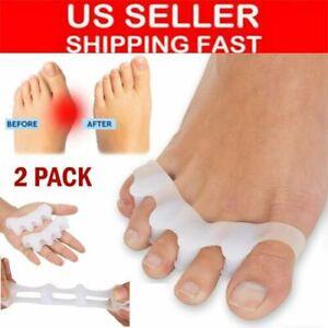 2 Pairs Toe Separator Stretchers Yoga Foot Gel Bunion Corrector Straightener US