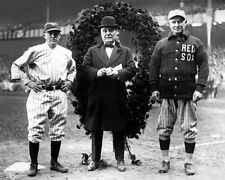 1923 Yankees Stadium MILLER HUGGINS, JACOB RUPPERT & FRANK CHANCE 8x10 Photo