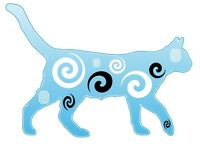 Tribal Abstract Cat unique  Iron on transfer