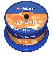 Verbatim DVD-R 4.7GB 16x Geschwindigkeit 120min bespielbar DVD-Disc Spindel