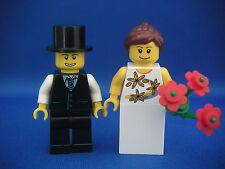 Lego Minifigs Figurines City - Les mariés neufs / New Groom and Bride