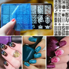 Neuf Nail Art Pochoir Stamping Template Plaque Ongle Image Plastique Stamp Décor