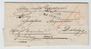 UKRAINE 1839, LWOW / LEMBERG TO DROHOBYCH, FOLDED LETTER