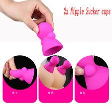 2*Breast Enhancer Vibrating Women Nipple Cup Vacuum Pump Suction Enlarger Device