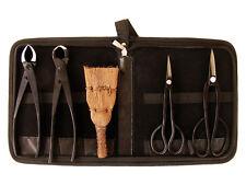 Bonsai-Werkzeug-Set Profi 5 teilig Japanqualität mit Tasche # HqB-225dT