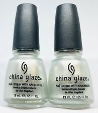 China Glaze Nail Polish DRENCHED IN DIAMONDS 594 Shiny Deep Grey Lacquer