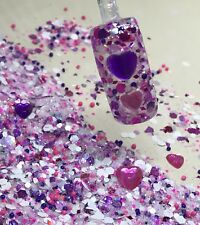 glitter mix acrylic gel nail art   VALENTINE BEJEWELLED  limited edition
