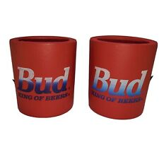 Budweiser Bud light red Foam Koolie Can Holder Koozie Coozie 80s 90s Beer 2
