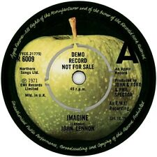 DEMO  JOHN LENNON IMAGINE APPLE R 6009 1971 LABEL REPRO VINYL STICKER  85MM