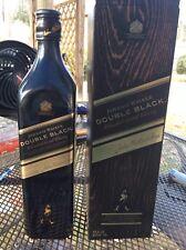 JOHNNIE WALKER DOUBLE BLACK Scotch Whisky Bottle & Box