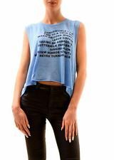 Wildfox Women's Warm Nights Chad Tank Top Azure Blue Size M RRP £59 BCF73
