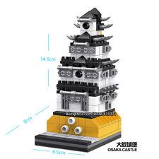 Osaka Castle Japanese Famous Landmark Building Bricks Construction Blocks Toy